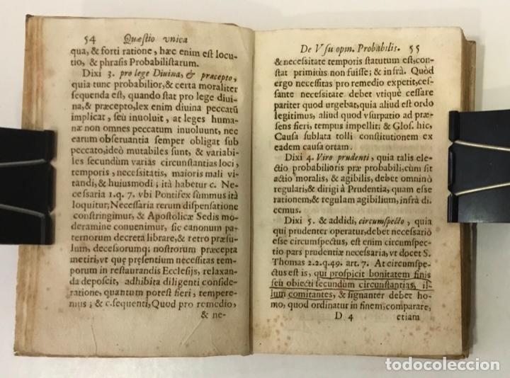 Libros antiguos: DE RECTO USU OPINIONIS PROBABILIS QUAESTIO UNICA IN QUINQUE LECTIONES... - ANGELIS, Augustini de. - Foto 4 - 248468150