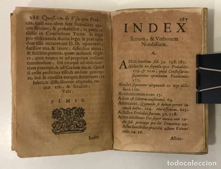 Libros antiguos: DE RECTO USU OPINIONIS PROBABILIS QUAESTIO UNICA IN QUINQUE LECTIONES... - ANGELIS, Augustini de. - Foto 6 - 248468150