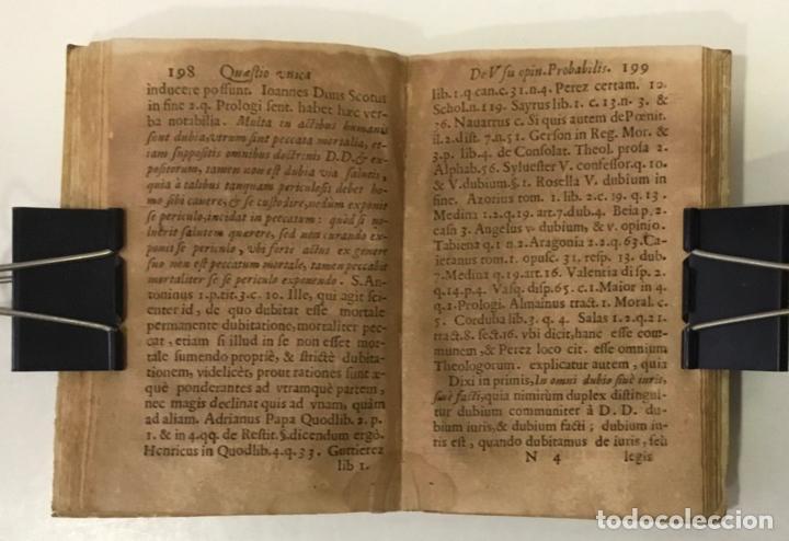 Libros antiguos: DE RECTO USU OPINIONIS PROBABILIS QUAESTIO UNICA IN QUINQUE LECTIONES... - ANGELIS, Augustini de. - Foto 5 - 248468150