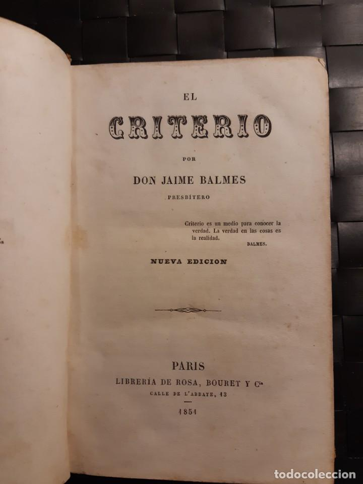 Libros antiguos: El criterio 1854 - Foto 7 - 248810160