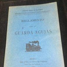 Libros antiguos: REGLAMENTO PARA LOS GUARDA AGUJAS 1903. FERROCARRIL DE VILLAODRID A RIBADEO.. Lote 290021203