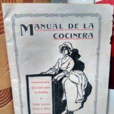 Libros antiguos: MANUAL DE LA COCINERA - ANTIGUO RECETARIO CON PUBLICIDAD FARMACÉUTICA DE LA ÉPOCA - CIRCA 1900. Lote 249260855
