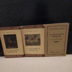 Libros antiguos: HISTORIA.....LA REVOLUCION FRANCESA.....TRES TOMOS.....1935.... Lote 249296920