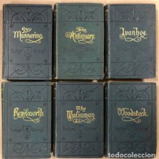 Libros antiguos: BAVERLEY NOVELS. LOTE DE 6 LIBROS DE 1873: GUY MANNEIRO, THE ANTIQUARY, IVANHOE, KENILWORTH,.... Lote 196067176