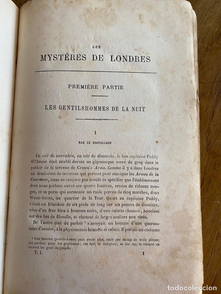 Libros antiguos: Libro Paul Féval Les Mystères de Londres - Tomo 1 - Nouvelle Édition- s.XIX - Foto 8 - 249528360