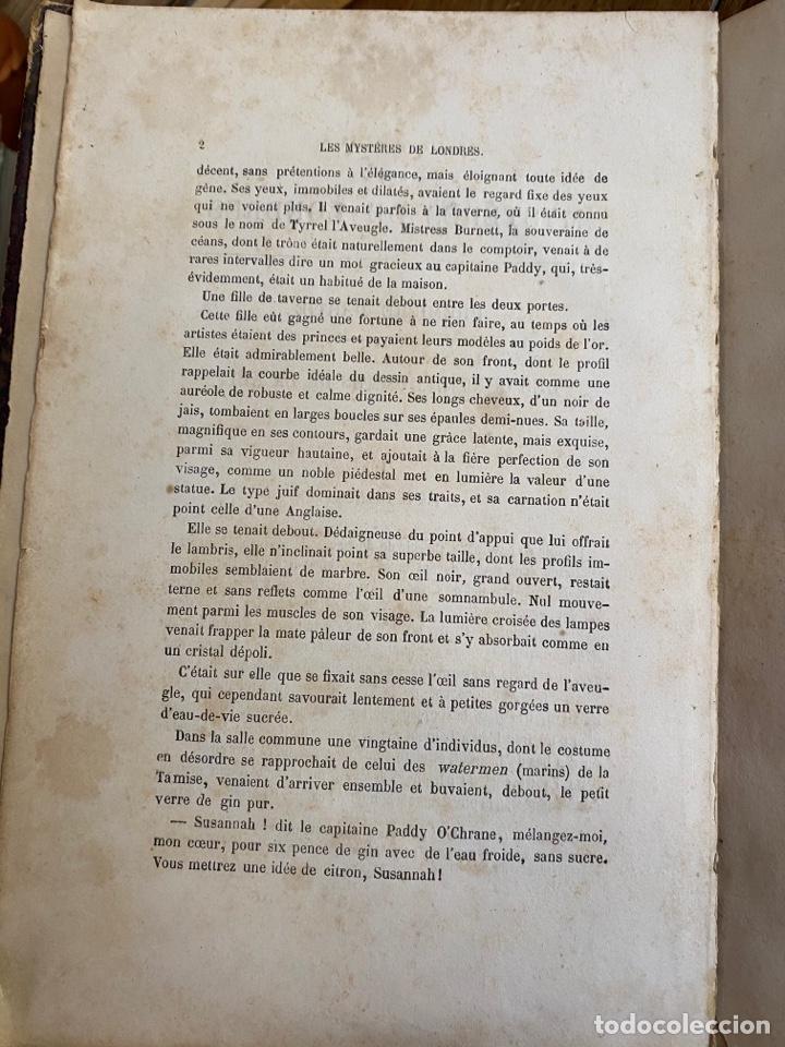 Libros antiguos: Libro Paul Féval Les Mystères de Londres - Tomo 1 - Nouvelle Édition- s.XIX - Foto 9 - 249528360
