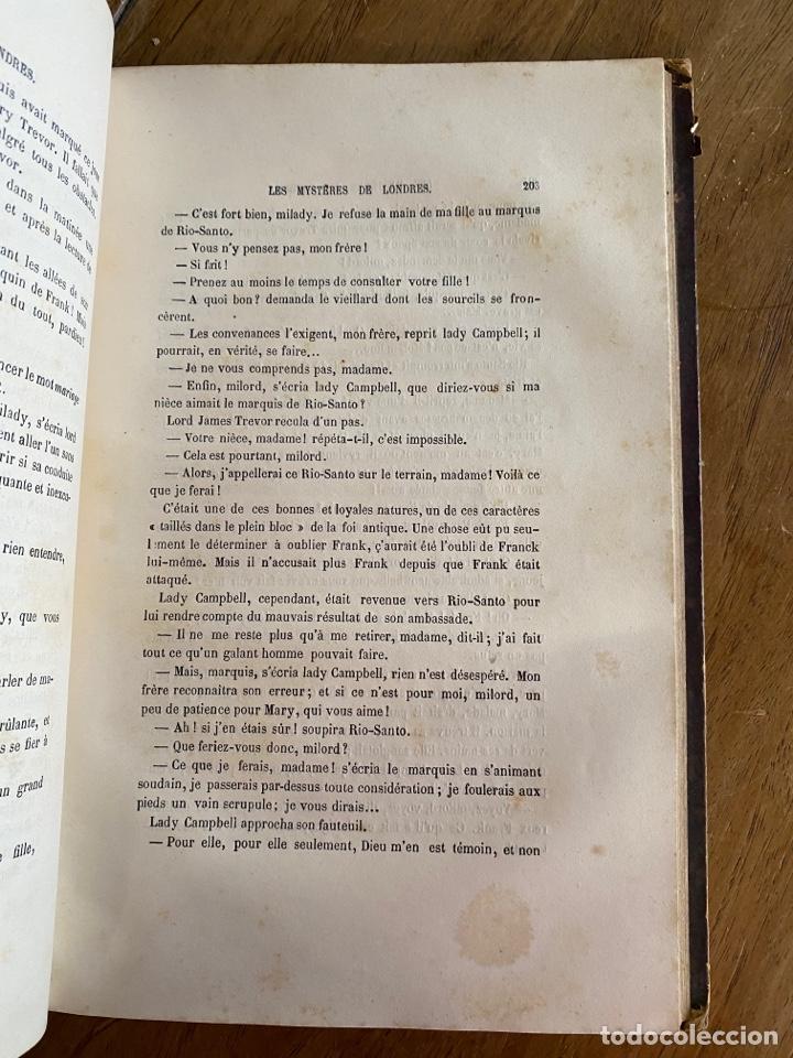 Libros antiguos: Libro Paul Féval Les Mystères de Londres - Tomo 1 - Nouvelle Édition- s.XIX - Foto 17 - 249528360