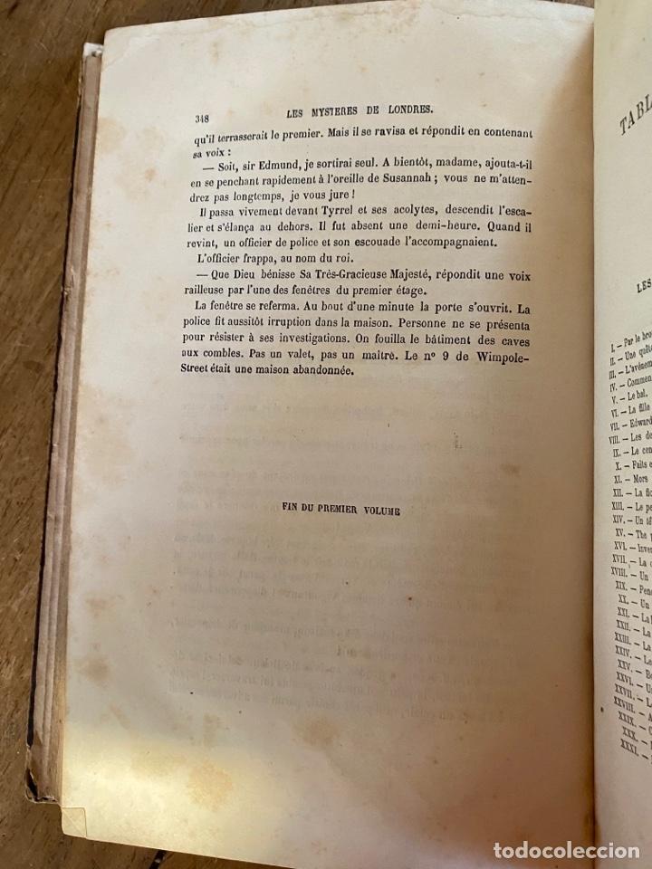 Libros antiguos: Libro Paul Féval Les Mystères de Londres - Tomo 1 - Nouvelle Édition- s.XIX - Foto 19 - 249528360