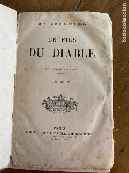 LIBRO PAUL FÉVAL LE FILS DU DIABLE - TOMO 2 - NOUVELLE ÉDITION- S XIX (Libros Antiguos, Raros y Curiosos - Otros Idiomas)