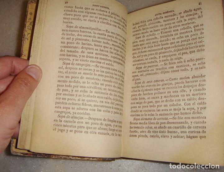 Libros antiguos: El libro de las familias. Manual de cocina española. 1870. + Novísimo manual de cocina americana. - Foto 4 - 249560370