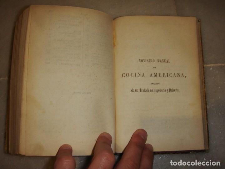 Libros antiguos: El libro de las familias. Manual de cocina española. 1870. + Novísimo manual de cocina americana. - Foto 5 - 249560370