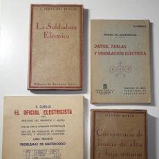Libros antiguos: LOTE LIBROS ELECTRICIDAD - ELECTRICISTA PRÁCTICO - E. CUBILLO. Lote 249600315