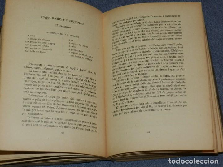 Libros antiguos: (MF) LIBRO COCINA - CLASSES DE CUINA POPULAR CURS 1924 - 1925, PREF. JOSEP RONDISSONI - Foto 3 - 250313500