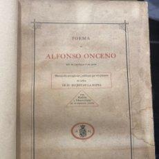 Libros antiguos: RODRIGUEZ YÁÑEZ. POEMA DE ALFONSO ONCENO REY DE CASTILLA Y LEÓN.. Lote 250323900