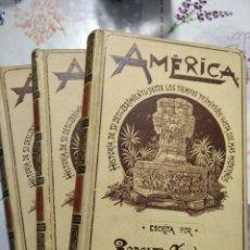 Libri antichi: AMÉRICA. RODOLFO CRONAU . TRES TOMOS. .MUNTANER Y SIMÓN EDITORES. Lote 251064540