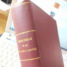 Libros antiguos: MEMORIAS DE LA REAL ACADEMIA, COL. DE DOCUMENTOS INÉDITOS PARA LA HISTORIA DE LAS BELLAS ARTES1914. Lote 251313355