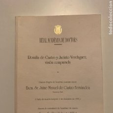 Libros antiguos: CASTRO FERNÁNDEZ, UMBERT I MILLET. ROSALÍA DE CASTRO Y JACINTO VERDAGUER: VISIÓN COMPARADA.. Lote 251334015