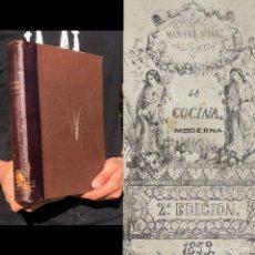 Livros antigos: 1853 - LA COCINA MODERNA SEGÚN LA ESCUELA FRANCESA Y ESPAÑOLA - GASTRONOMIA - PASTELERIA - GRABADOS. Lote 251393200