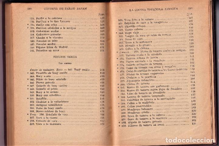 Libros antiguos: LA COCINA ESPAÑOLA ANTIGUA - CONDESA DE PARDO BAZÁN - CIRCA 1920 - Foto 3 - 251486280