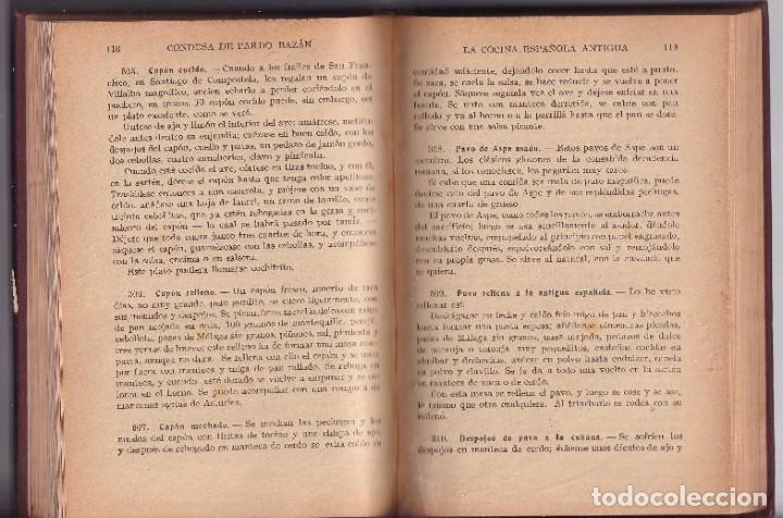 Libros antiguos: LA COCINA ESPAÑOLA ANTIGUA - CONDESA DE PARDO BAZÁN - CIRCA 1920 - Foto 4 - 251486280