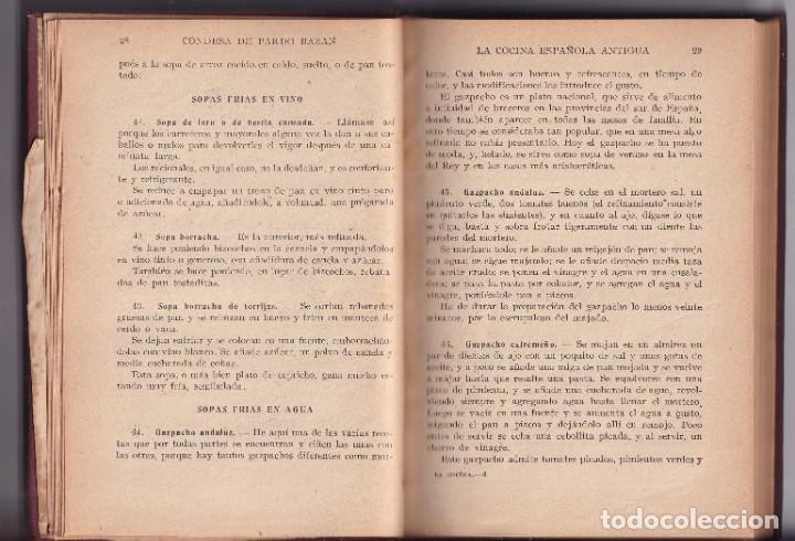 Libros antiguos: LA COCINA ESPAÑOLA ANTIGUA - CONDESA DE PARDO BAZÁN - CIRCA 1920 - Foto 5 - 251486280
