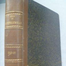 Libros antiguos: ENORME LIBRO DE CURSO DE CONFERENCIAS , 1922-23: CAVALCANTI, ETC. TEMAS DE HISTORIA, ETC. Lote 251543580