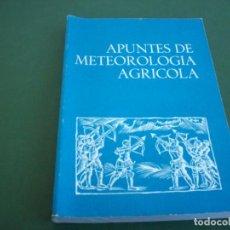 Libros antiguos: APUNTES DE METEOROLOGIA AGRICOLA .. Lote 251949715