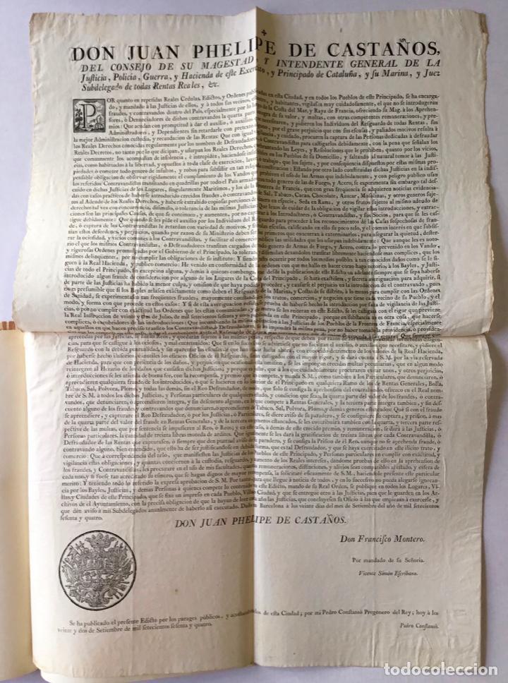DON JUAN PHELIPE DE CASTAÑOS DEL CONSEJO DE SU MAGESTAD Y INTENDENTE GENERAL DE LA JUSTICIA... (Libros Antiguos, Raros y Curiosos - Historia - Otros)