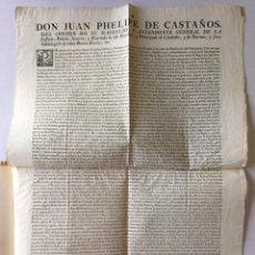 Libros antiguos: DON JUAN PHELIPE DE CASTAÑOS DEL CONSEJO DE SU MAGESTAD Y INTENDENTE GENERAL DE LA JUSTICIA.... Lote 251968045