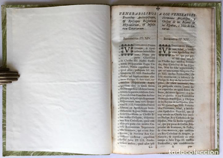 VENERABILIBUS FRATRIBUS ARCHIEPISCOPIS, ET EPISCOPIS REGNORUM HISPANIARUM, ET INSULARUM CANARIARUM.. (Libros Antiguos, Raros y Curiosos - Historia - Otros)