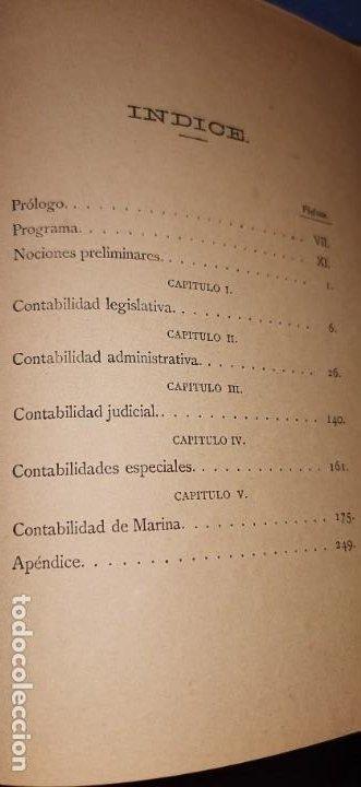 Libros antiguos: Nociones generales de Contabilidad de Hacienda Publica con de España y su aplicación a la Marina - Foto 5 - 184555907
