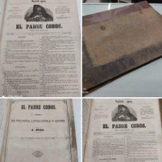Libros antiguos: EL PADRE COBOS PERIÓDICO DE POLÍTICA LITERATURA Y ARTE AÑO II 60 PERIODICOS 5 SEP 1855/30 JUNIO 1856. Lote 253147765