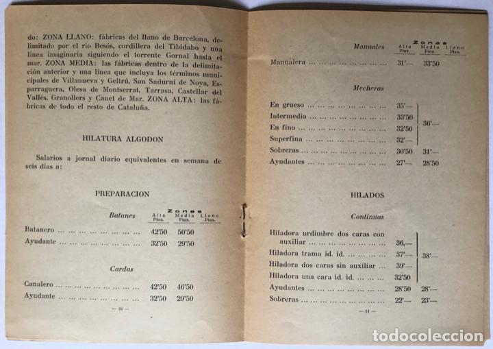 Libros antiguos: PACTO COLECTIVO celebrado entre los representantes de las Asociaciones de Fabricantes de Hilados... - Foto 3 - 123149040