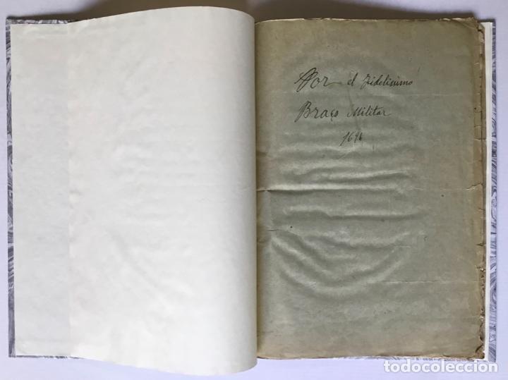 Libros antiguos: POR EL MUY ILUSTRE, Y FIDELISSIMO BRAÇO MILITAR. Sobre el acierto con que revocò las ordinaciones he - Foto 2 - 123255268