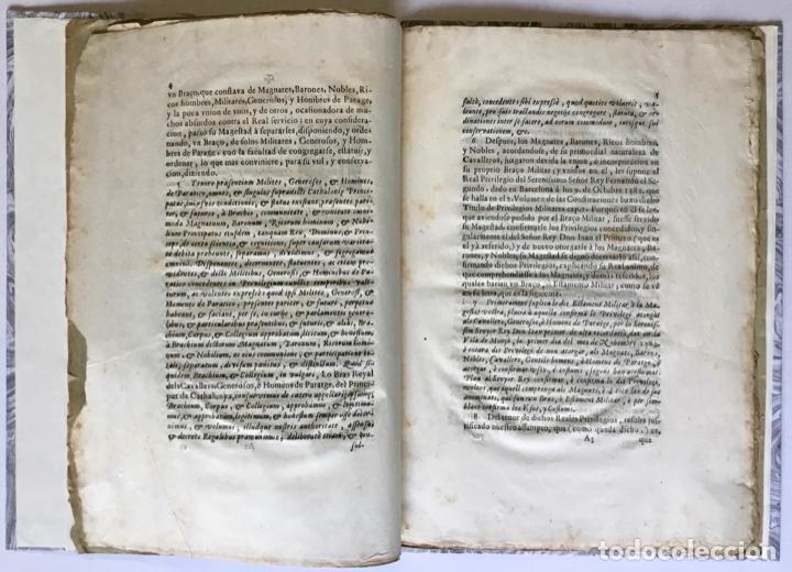 Libros antiguos: POR EL MUY ILUSTRE, Y FIDELISSIMO BRAÇO MILITAR. Sobre el acierto con que revocò las ordinaciones he - Foto 3 - 123255268
