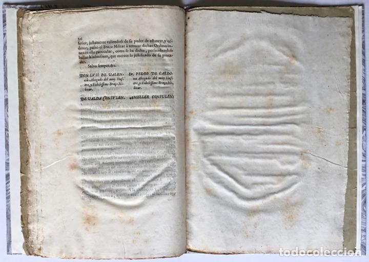 Libros antiguos: POR EL MUY ILUSTRE, Y FIDELISSIMO BRAÇO MILITAR. Sobre el acierto con que revocò las ordinaciones he - Foto 5 - 123255268