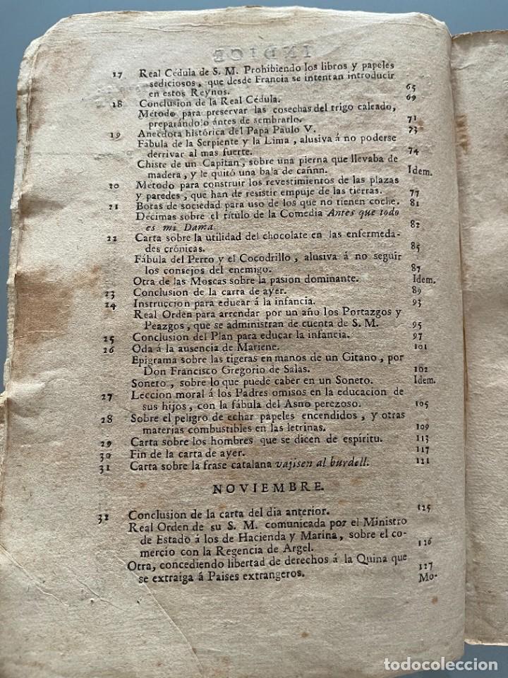 Libros antiguos: Diarios de Barcelona que comprehende los meses de Octubre, Noviembre y Diciembre 1792 (92 diarios) - Foto 6 - 253633240