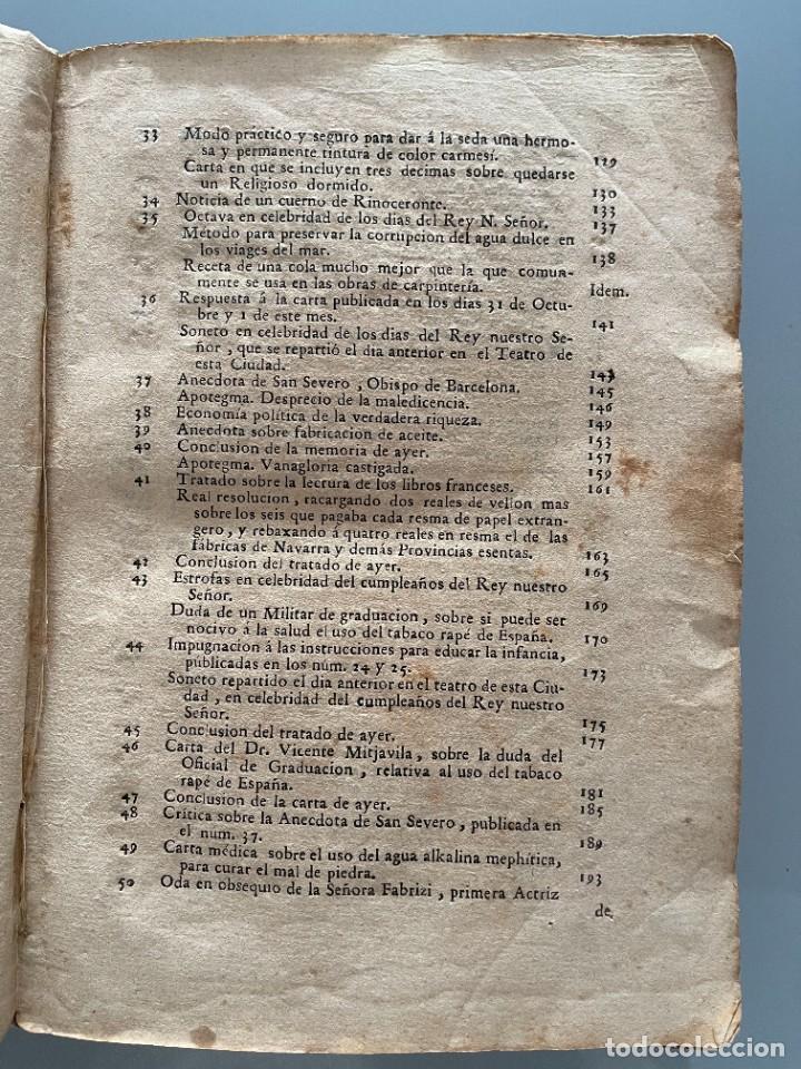 Libros antiguos: Diarios de Barcelona que comprehende los meses de Octubre, Noviembre y Diciembre 1792 (92 diarios) - Foto 7 - 253633240