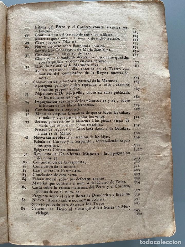 Libros antiguos: Diarios de Barcelona que comprehende los meses de Octubre, Noviembre y Diciembre 1792 (92 diarios) - Foto 9 - 253633240