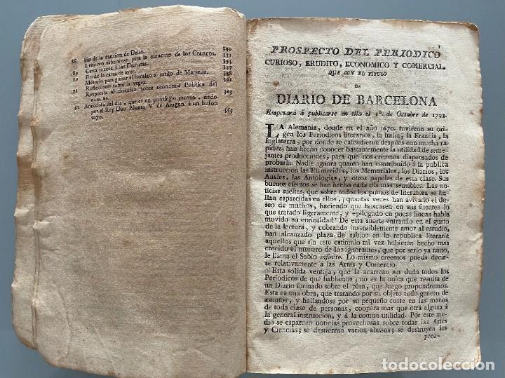 Libros antiguos: Diarios de Barcelona que comprehende los meses de Octubre, Noviembre y Diciembre 1792 (92 diarios) - Foto 10 - 253633240