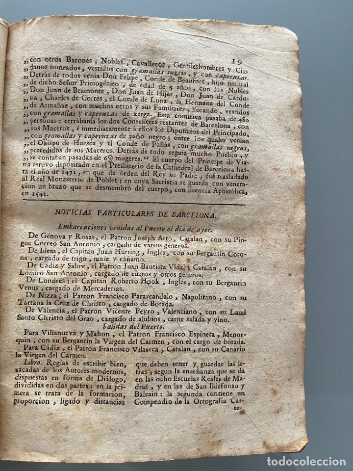 Libros antiguos: Diarios de Barcelona que comprehende los meses de Octubre, Noviembre y Diciembre 1792 (92 diarios) - Foto 13 - 253633240