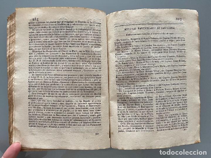 Libros antiguos: Diarios de Barcelona que comprehende los meses de Octubre, Noviembre y Diciembre 1792 (92 diarios) - Foto 32 - 253633240