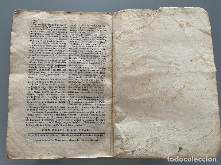 Libros antiguos: Diarios de Barcelona que comprehende los meses de Octubre, Noviembre y Diciembre 1792 (92 diarios) - Foto 37 - 253633240