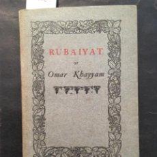 Livres anciens: RUBAIYAT, OMAR KHAYYAM, 1902. Lote 253801435