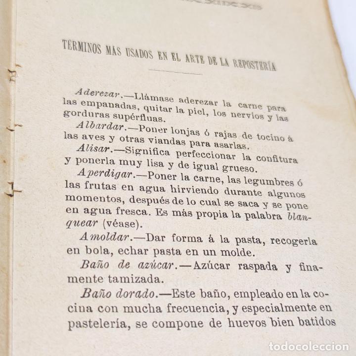 Libros antiguos: Interesante obra Tesoro del confitero y repostero. Manual práctico. Obra indispensable.Madrid. 1896. - Foto 5 - 253895830