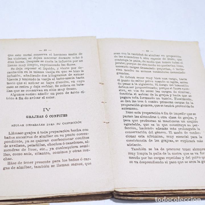 Libros antiguos: Interesante obra Tesoro del confitero y repostero. Manual práctico. Obra indispensable.Madrid. 1896. - Foto 7 - 253895830