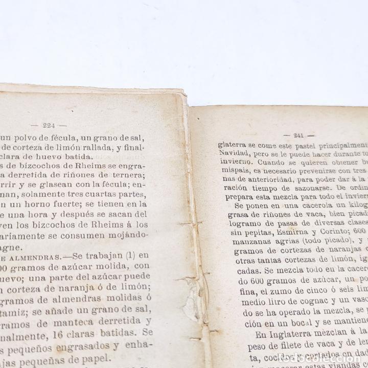 Libros antiguos: Interesante obra Tesoro del confitero y repostero. Manual práctico. Obra indispensable.Madrid. 1896. - Foto 11 - 253895830