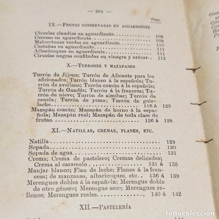 Libros antiguos: Interesante obra Tesoro del confitero y repostero. Manual práctico. Obra indispensable.Madrid. 1896. - Foto 14 - 253895830