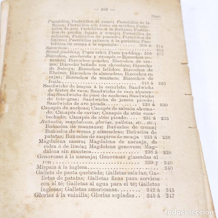 Libros antiguos: Interesante obra Tesoro del confitero y repostero. Manual práctico. Obra indispensable.Madrid. 1896. - Foto 16 - 253895830