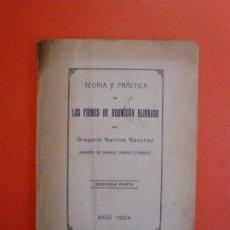 Libros antiguos: LOS FIRMES DE HORMIGÓN BLINDADO TEORIA Y PRACTICA CABALLERIAS CEMENTOS ASLAND RAFF SANSON 1924. Lote 254085395